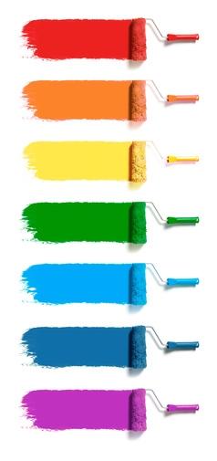 Peintures de couleurs différentes