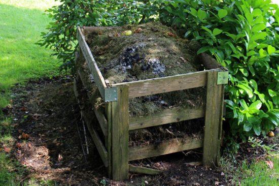composteur dans un jardin