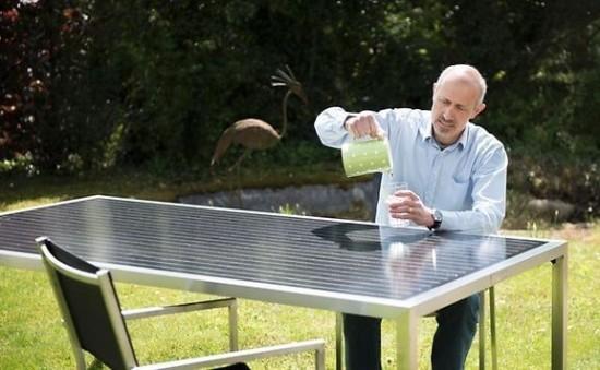 Mobilier de jardin photovoltaïque