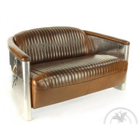 canapé cuir vintage aviator