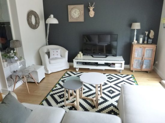 Conseils de d coration pour un salon scandinave for Deco salon en l