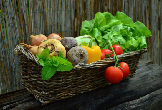 panier avec des legumes