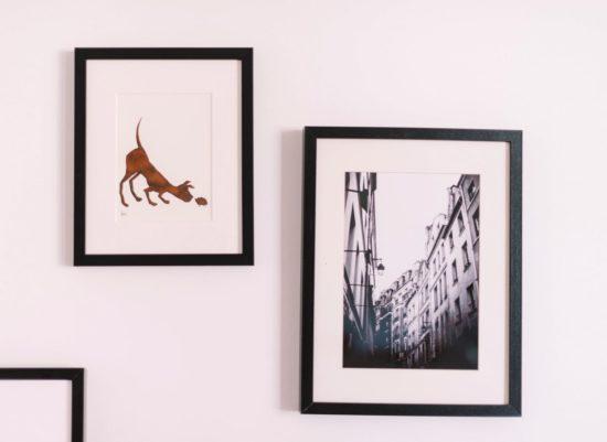 cadre photo accroche au mur