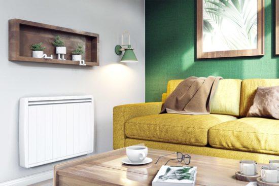 radiateur electrique a inertie dans un salon