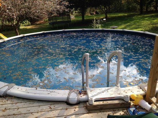 piscine avant nettoyage pour l ete